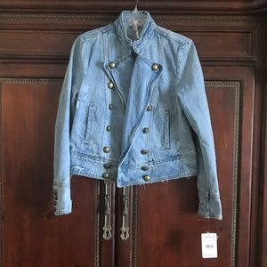 Brand New Free People Denim Jean Jacket SMALL